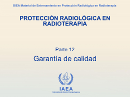 garantía de calidad - Radiation Protection of Patients
