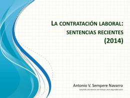 LA CONTRATACIÓN LABORAL: SENTENCIAS RECIENTES (2014)