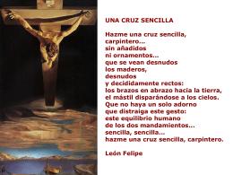 Una cruz sencilla