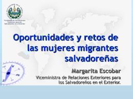 Oportunidades y retos de las mujeres migrantes salvadoreñas