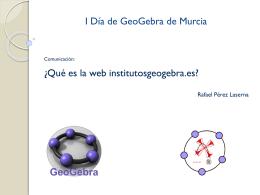 Presentación sobre la web institutosgeogebra.es