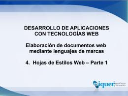 U4 – Hojas de Estilo Web – p1
