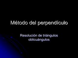 Método del perpendiculo