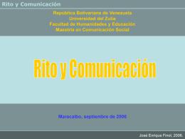Semiótica del Rito 2 - Dr. José Enrique Finol Dr. Jose Enrique Finol