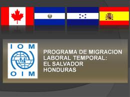 Experiencias de PTMT en El Salvador y Honduras, Sr. Jeremy Mac