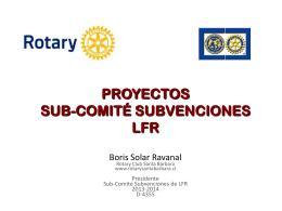 Exposicion Boris Solar, Conferencia del Distrito, Abril