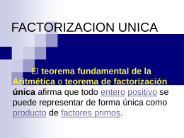 FACTORIZACION UNICA