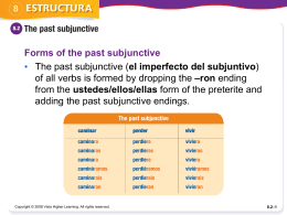 The past subjunctive