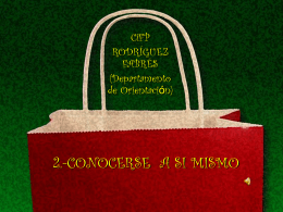 2.-CONOCERSE A SI MISMO