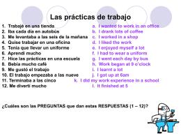 Las prácticas de trabajo