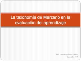La Nueva Taxonomía de Marzano y Kendall
