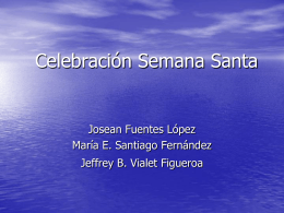 Celebración Semana Santa