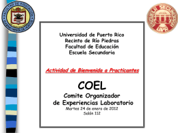 Agenda - UHS Escuela Secundaria - Universidad de Puerto Rico