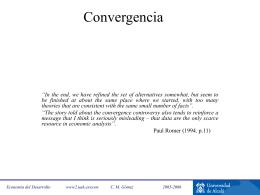 Convergencia y Extensiones de la teoría neoclásica del crecimiento