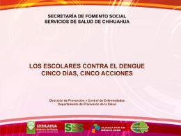 Los escolares Contra el Dengue - Dirección General de Promoción
