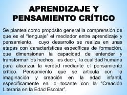 Pensamiento Crítico PPT.