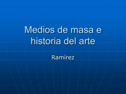 Medios de masa e historia del arte