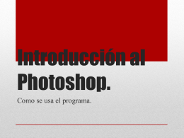 Introducción al Photoshop.