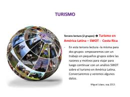 (2 grupos) Turismo en América Latina – SWOT