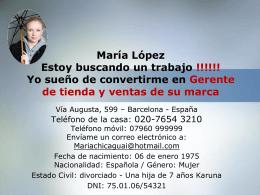 Errores en la presentación de María López
