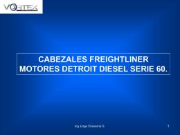 cabezales freightliner motores detroit diesel serie 60.