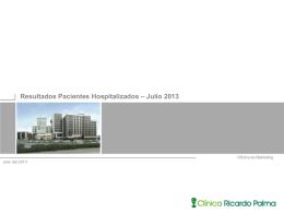 Gestión Hospitalaria Julio 2013
