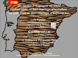 D`Espagne ne vient ni bon vent, ni bon mariage!