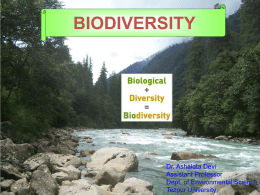 Biodiversity Conservation – Role of sacred groves