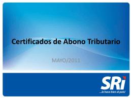 Certificados de Abono Tributario