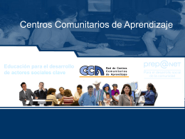 Programas Sociales - Prepanet - Centro Virtual de Aprendizaje