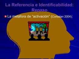 La Referencia e Identificabilidad