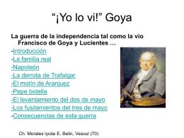 La guerra de la independencia tal como la vio Francisco de Goya