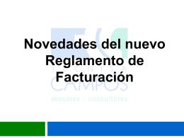 Novedades del nuevo Reglamento de Facturación.