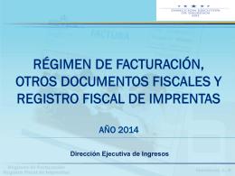 Régimen de Facturación y registro Fiscal de Imprentas