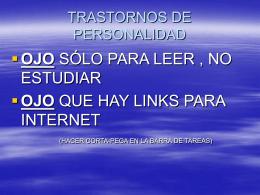 TRASTORNOS DE LA PERSONALIDAD (2) - Aula-MIR