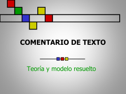 Comentario_teoría y modelo