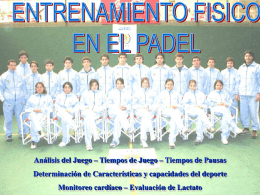 Caract.delPadel - deporte y medicina