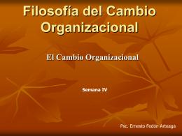 Filosofía del Cambio Organizacional