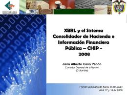 XBRL y el Sistema Consolidador de Hacienda e Información