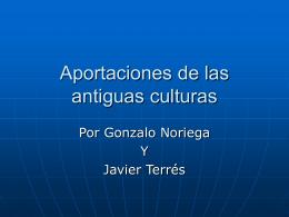 Aportaciones de las antiguas culturas