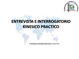 Introduccion Kinesis - Entrevista e Interrogatorio