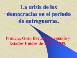 La crisis de las democracias en el periodo de entreguerras. Francia