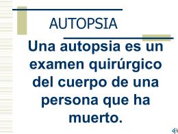 AUTOPSIA (2) - Justicia Forense