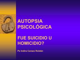 autopsia psicológica - Fundacion Criminalistica Forense Colombia