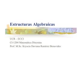 Estructuras Algebraicas