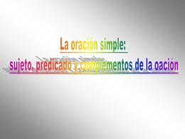 oracion simple - HERRAMIENTASLENGUAJE