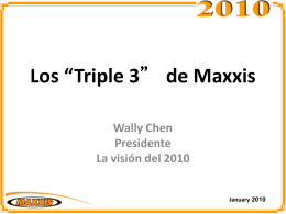 El Triple 3 de MAXXIS de Wally Chen