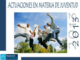 programación actividades juventud 2013