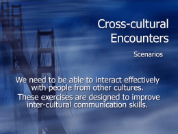 Cross-cultural Encounter