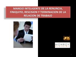 CURSO MANEJO INTELIGENTE DE LA RENUNCIA FINIQUITO